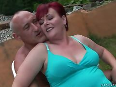 redhead grandma gets totally fucked porn video