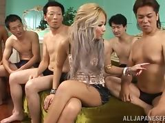 Slutty Babe Julia Tachibana Really Having Fun in a Gangbang