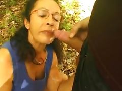 Forest, Amateur, Couple, Cum in Mouth, Cumshot, Facial