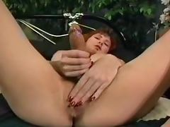 Big titted hermaphodite is wanking her cock
