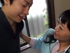Mature Japanese Naughty and Guilty of Giving a Hot Blowjob