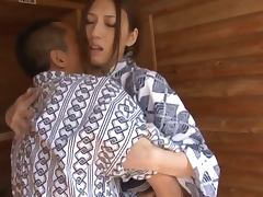 Horny Japaense Wife Riding Cock and Getting Facialized