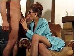 Sex hungry French mature babe rides huge dick in anal scene