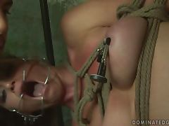 Kathia Nobili gets tied up and unforgettably fucked