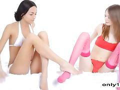 Tender lesbian joy Skinny Beauty teens