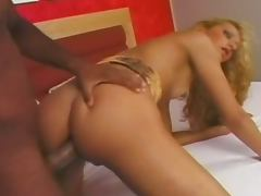 Brazilian shemale gets her ass pounded