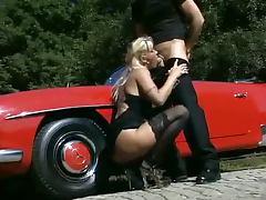 Big Tits MILF Fucked Outside
