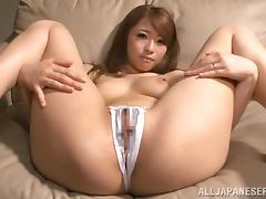 Wild inserting action with a cute little Asian sweetie