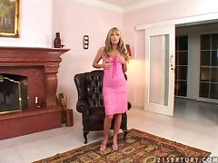 Beautiful Gili Sky plays with her pussy lying on an armchair