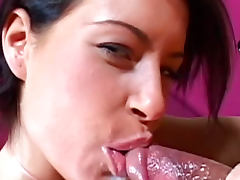 Lora Craft is sucking balls and dick very aggressive