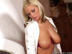Big tittied Sheila Grant in great solo masturbation show