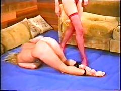 Catfight, Brunette, Catfight, Facesitting, Lesbian, Wrestling