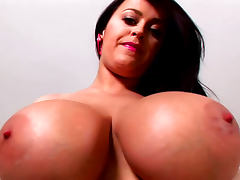 Sexy dark haired beauty Leanne Crow is playing
