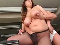 Japanese BBW, Big Tits, Chubby, Couple, Fat, Fingering
