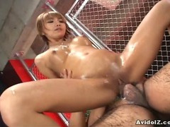 Bubble butt babe Hina Otsuka nailed hard