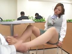 All, Couple, Footjob, Kinky, Public, Miniskirt