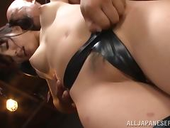 Yui Fujishima the hot babe in latex lingerie gets fucked