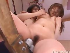 Shiori Kamisaki gets her pussy toyed in hot BDSM video