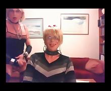 Amateur crossdresser on webcam