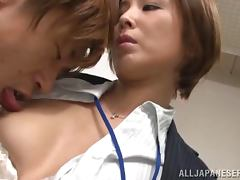 Beautiful Satsuki Kirioka gets pinned during office hours