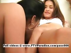 Darlene and Janelle ingenious lesbians licking pussy