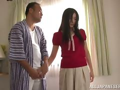 Nice Japanese woman gets fucked in her wet pussy