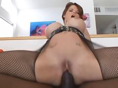 Mature slut enjoys BBC