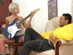 Desirable honey Ioana blows it for some actions