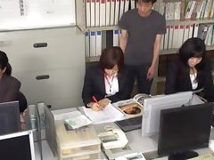 Slutty Aya Sakurai gets fucked hard in the office