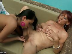 Summer old school lesbian sex with a mature lady