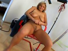 Cute blonde Rachel spreads her lovely legs