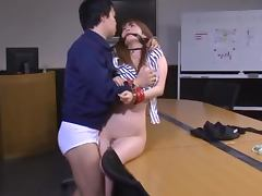 Nice fucking with Miku Ohashi after a successful presentation