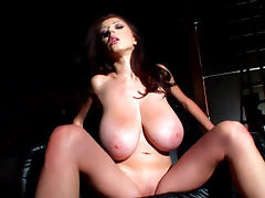 Brunette with big tits Merilyn Sekova demonstrates her shape
