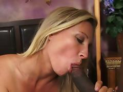 Busty milf devon lee goes black