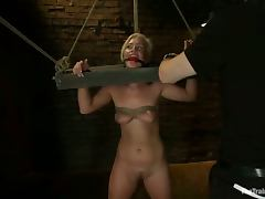 Tara Lynn Foxx the girl in the stocks gets toyed and fucked