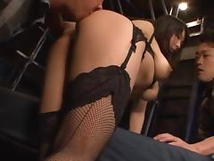 Wild Yui Tanaka poses in sexy lingerie and gets threesomed