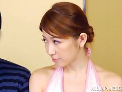 Japanese babe gets her vag drilled from behind outdoors