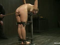 Hot chick gets whipped clothespinned and toyed