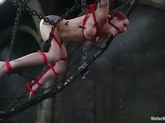 Kinky German chick in great water bondage video