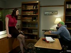 Slutty tranny Dina Swift pokes her dick into Jack Thunda's ass