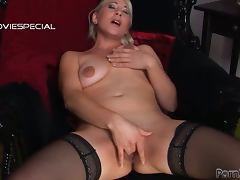 Shaved Pussy, Blonde, Chubby, Close Up, Fingering, Fisting