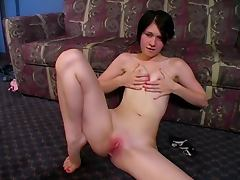 Naked on the floor JOI
