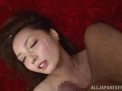 Japanese Slut Kaede Fuyutsuki Gets Fucked by Two Cocks For Facial