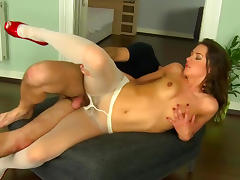All, Blowjob, Brunette, Cumshot, Nasty, Pantyhose