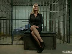 Bondage, BDSM, Blonde, Bondage, Jail, Office