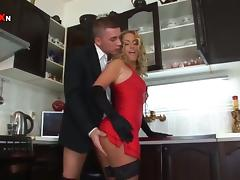 Sexy Sensual MILF Gets an Anal Creampie in the Kitchen