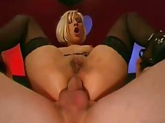 Blonde goo girl double fucked