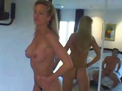 Blonde pro Milf in threesome DP Camaster
