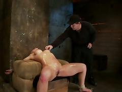 Bondage, BDSM, Blonde, Bondage, Juicy, Oil
