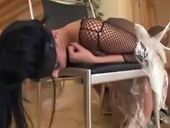 British pornstar is tied up and receives fucked up the a hole